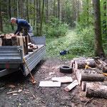 """unerlässlich beim """"Holz machen"""", ein langer und ein kurzer Sappie!"""