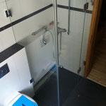 Dusche aus Glas