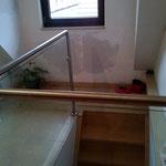 Treppengeländer aus Glas, Glasgeländer, Edelstahl-Glas