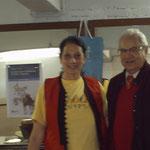 TRIXIE et Samir MEGALLY, écrivain, auteur de livres d'apprentissage de la langue arabe et égyptienne