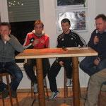Das Pressegespräch zwischen den Trainern und Rainer Maass