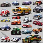 """Fahrzeug-Collage, """"Meine Kindergartenfreunde - Autos"""", Loewe Verlag GmbH"""