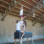 Auch unser Nachwuchs turnt schon schwere Übungen!