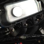 Hier wieder die einzelnen Prüfanschlüße am Fächerkrümmer, wodurch der Motor optimal abgestimmt werden kann.
