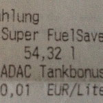 Restfüllmenge 0,68 Liter Super, hätte bei dem Durchnittsverbrauch noch für 6 km gereicht, somit wäre ich 3 km vor dem Wohnort liegengeblieben... ;)