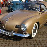 """Ein """"Low-Light""""-Karmann-Ghia Typ 14, sprich einer der ersten Serie mit der filigranen Linienführung."""