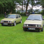 "rechts: Phillips 16V GTI mit dem ""Zwilling"" seines Kumpels..."
