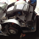 Luftkanäle an einem AMG-Mercedes Tourenwagen