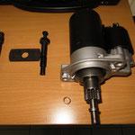 Das zusammengewürflte Werkzeug für die Anlasserbuchse...
