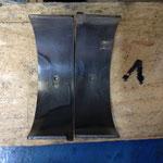 Man sieht hier gut die unterschiedlichen Materialschichten des Pleuellagers!