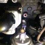 Hier im originalen Ursprungs-Zustand mit zwei Öldruckschaltern...