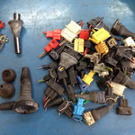 Steckergehäuse, zum Teil neu nicht mehr lieferbar, diese kommen nach einer Reinigung auch in meinen Ersatzteilfundus...