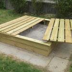 Aufbau eines neuen Sandkasten mit Befüllung