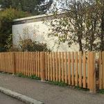 Aufbau eines Holzzaunes
