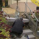 Setzungen von Treppenstufen