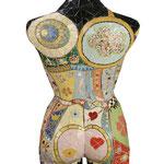 """""""Busto Feminino"""" (Verso) - 82x35x23 cm"""