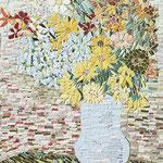 """""""Jarra azul com Flores"""" - 82x55 cm"""