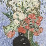 """""""Jarra preta com Flores"""" - 82x55 cm"""