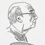 """""""José Saramago"""" - 56x42 cm"""