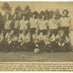 Saison 70-71 avec Ernst Herr comme entraîneur et Enzo (Pizzeria zum Hanselbrunnen) comme sponsor.