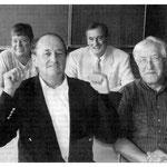 Ein letztes Mal im Klassenzimmer, Hans Kech, Manfred Glunk, Ursula Wernick und Dieter Bürkelbach.