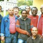 Samy Sane avec ses copains de la garnison de Donaueschingen.