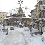 Il y avait beaucoup de neige à Donaueschingen dans les années 60.