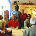 Samy Sane avec ses amis allemands de Donaueschingen.