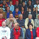Spectateurs lors de la rencontre amicale des anciens du 110 contre les vétérans du FV Donaueschingen.