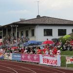 Vereinsheim du FVD inauguré en 1978, construit en partie par les joueurs, sous la direction de Hans Hölderle.