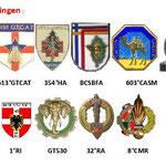 Les unités qui ont stationné à Donaueschingen depuis 1945, jusqu' au 24 juin 2014.