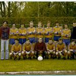 L' équipe première du FVD, dans les années 70 avec Gilbert Auroux.