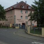 Entrée du quartier Fürstenberg, bâtiments du Jägerbataillon 292.