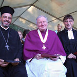 Archimandrit, Generalvikar und Kirchenpräsident (v.l.n.r.) - Foto R. Völker