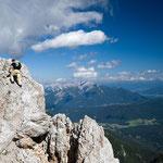 Aufstieg zum Hochwanner (2744 m), Wettersteingebirge