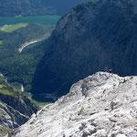 Bergsteiger in der Watzmann-Ostwand