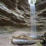Der Wasserfall am Ende der Pähler Schlucht
