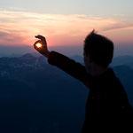 Abendstimmung auf dem Vorderunnutz (2078 m), Brandenberger Alpen