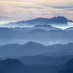 Morgenstimmung, ganz hinten das Dachsteingebirge