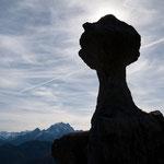 "Felsfaust: die ""Steinerne Agnes"" im Lattengebirge, Berchtesgadener Alpen"
