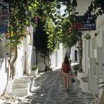 Spaziergang durch Naousa, Paros