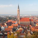 St. Martin in Landshut mit dem höchsten Ziegelturm der Welt