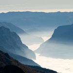 Blick ins Valsugana, Vizentiner Alpen