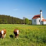 Die Wallfahrtskirche Sankt Leonhard bei Dietramszell