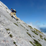 Jetzt bloß nicht ausrutschen! Aufstieg zur Watzmannfrau (2307 m)