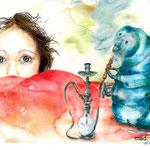 """Alice im Wunderland"" - Buchillustration"