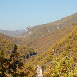 La vallée de la Dourbie en aval de Cantobre