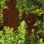 Gartendeko Schnecke rostig