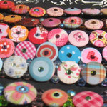 Klunkerketten Textilknöpfe