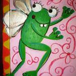 Frosch auf Kinderkleiderschrank